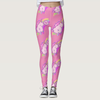 Cute Pink Unicorn Love Pattern Leggings