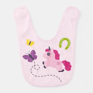 Cute Pink Unicorn with a Butterfly Bib