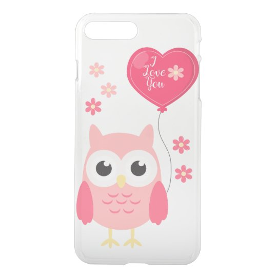 Cute Pink Valentines Owl I Love You iPhone