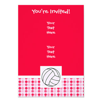 Cute Pink Volleyball Card