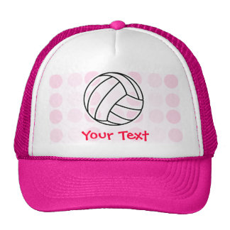 Cute Pink Volleyball Mesh Hats