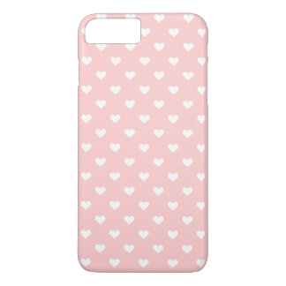 Cute Pink White Heart Pattern Girly iPhone 7 Plus Case