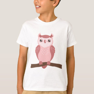 Cute PInk Woodland Owl T-Shirt