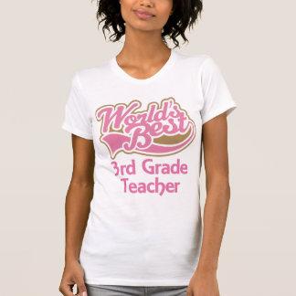 Cute Pink Worlds Best 3rd Grade Teacher Tee Shirt