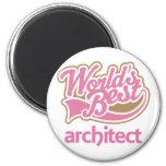 Cute Pink Worlds Best Architect