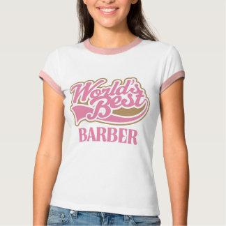 Cute Pink Worlds Best Barber T-Shirt