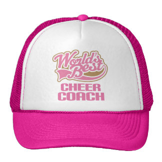 Cute Pink Worlds Best Cheer Coach Cap