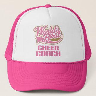 Cute Pink Worlds Best Cheer Coach Trucker Hat