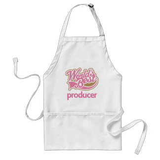 Cute Pink Worlds Best Producer Aprons