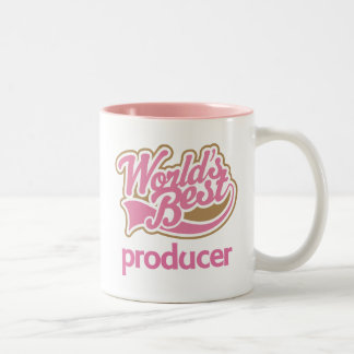 Cute Pink Worlds Best Producer Coffee Mugs