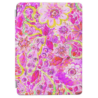Cute pinky abstract flowers iPad air cover