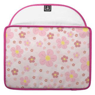 Cute Pinky Flowers Sleeve For MacBook Pro