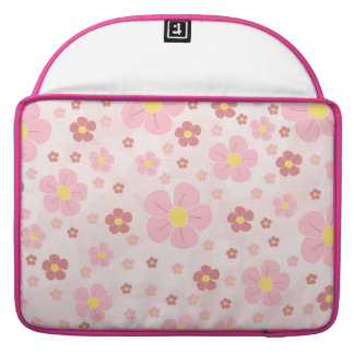 Cute Pinky Flowers Sleeve For MacBooks