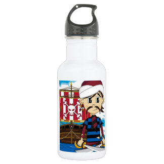 Cute Pirate and Ship 532 Ml Water Bottle
