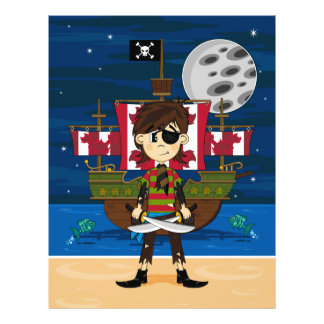Cute Pirate and Ship Flyer