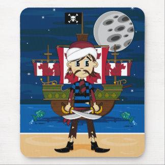 Cute Pirate and Ship Scene Mousepad