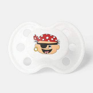 Cute Pirate Baby Red Bandanna Binkie for Babies