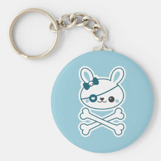 Cute Pirate Bunny Key Ring