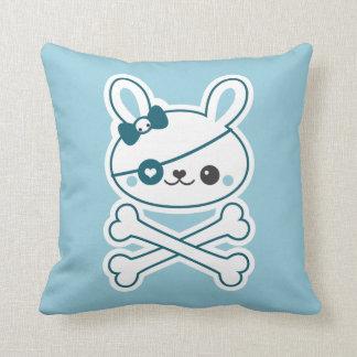 Cute Pirate Bunny Throw Pillow