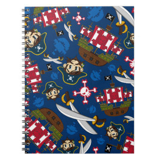 Cute Pirate Captain Notebook