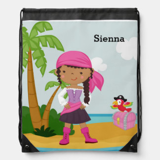 Cute Pirate Drawstring Bag
