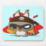Cute Pirate Funny Cartoon Slingshot Mouse Pad