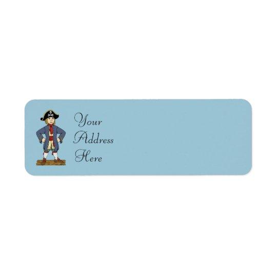 Cute Pirate Lad Return Address Label