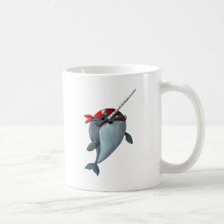 Cute Pirate Narwhal Coffee Mug