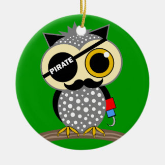 cute pirate owl christmas ornament