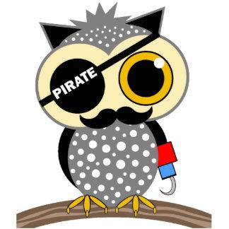 cute pirate owl acrylic cut out
