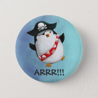 Cute Pirate Penguin 6 Cm Round Badge