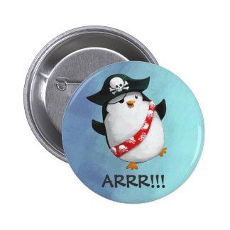 Cute Pirate Penguin 6 Cm Round Badge