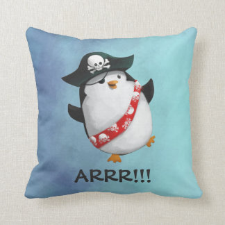 Cute Pirate Penguin Cushion