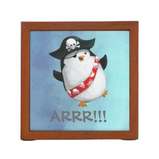 Cute Pirate Penguin Desk Organisers