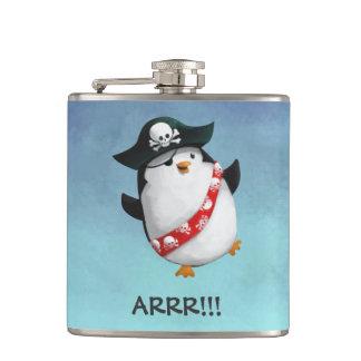 Cute Pirate Penguin Hip Flask