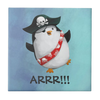 Cute Pirate Penguin Tile