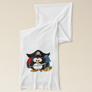 Cute Pirate Penguin with Treasure Chest Scarf