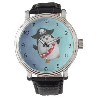 Cute Pirate Penguin Wrist Watch