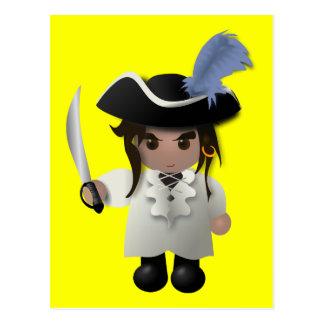 Cute Pirate Post Card