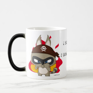 Cute pirate raccoon anime cartoon character mug
