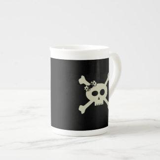 Cute Pirate Skull Personalized Bone China Mug