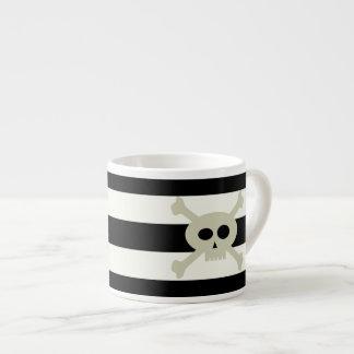Cute Pirate Skull Stripe Personalized Espresso Mug