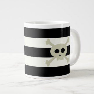 Cute Pirate Skull Stripe Personalized Jumbo Mug