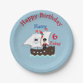 Cute Pirate Themed Birthday Party Paper Plate