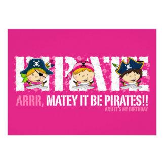 Cute Pirates Party Invite