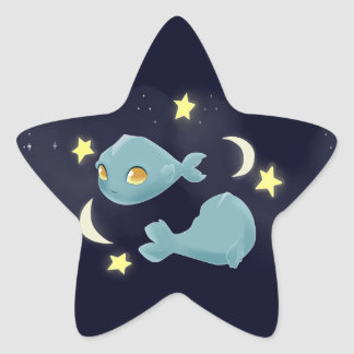 Cute Pisces Star Sticker