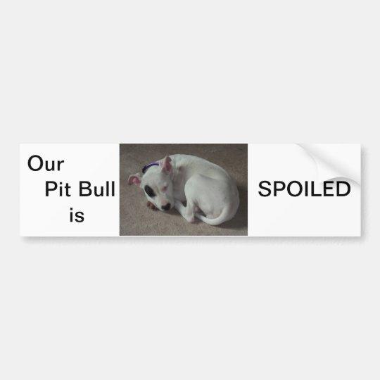 Cute pit bull bumper sticker