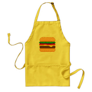 Cute Pixel Art Burger Time Apron
