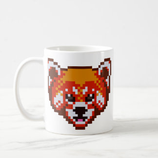Cute Pixel Art Red Panda Coffee Mug