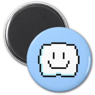 Cute Pixel Cloud 6 Cm Round Magnet
